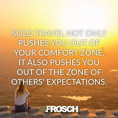 """""""Solo travel not only pushes you out of your comfort zone, it also pushes you out of the zone of others' expectations.""""—Suzy Strutner  Double tap if you agree!"""