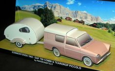 Daf 750 Combi 1 This is the paper model of Dutch Daf 750 combi 1962 in 1/35 scale; the trailer is a teardrop made in Germany by a fridge manufacturer, Eis.