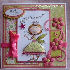 Cute Princess Card Like the technique used to round the skirt and face