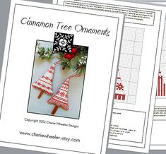 PDF Cross Stitch Pattern for Cinnamon Tree by CherieWheeler, $8.00