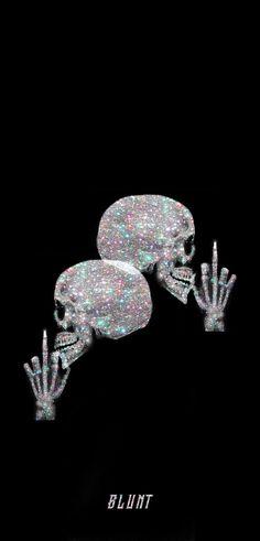 Glitter Skull Wallpaper
