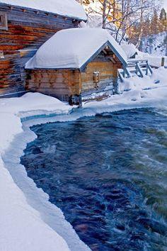 Myllykoski rapids in Kitkajoki river, Kuusamo, Finland