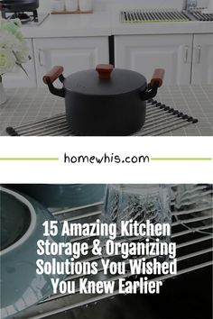 Cluttered kitchen? Running low on storage space? Then, here are 15+ small kitchen organization ideas that help you clear out the clutter and bring everything back in order again! From under the sink organization to countertop organizations ideas, you'll find the best way to utilize storage space, label and group your items together for a neat and organized kitchen! Visit the post now! #homewhis #kitchenorganization #undersinkorganization #declutter #cabinetorganization #fridgeorganization Kitchen Countertop Organization, Under Sink Organization, Sink Organizer, Spice Organization, Kitchen Storage, Magnetic Spice Jars, Fridge Shelves, Kitchen Trash Cans, Organized Kitchen