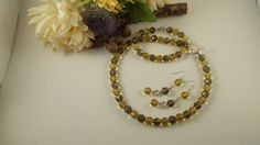 CLEARANCE 50% OFF Glass beaded Necklace by TheBarefootBombshell