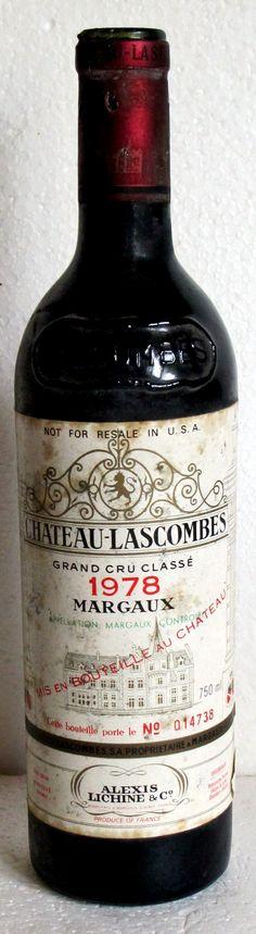 05. September 2015 - Château Lascombes: Lascombes 1978, Margaux, Bordeaux, Frankreich  -- Es gibt Weine, denen man nicht viel zutraut, selbst (oder gerade) wenn sie aus Bordeaux kommen. Eine solche Flasche ist dieser 78er Lascombes. Da regt einiges zum Nachdenken an. Der Jahrgang: zwar ordentlich, aber nicht ausserordentlich für das Médoc. Unter den besten Weinen des Jahrgangs, die Parker auflistet, fungiert er nicht.