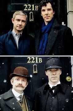 Sherlock and John, Holmes and Watson.