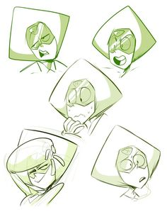 Steven Universe - Peridot Too precious for this world Steven Universe Personajes, Lapidot, Universe Art, It Goes On, Peace And Love, Garnet, Nerd, Character Design, Amethyst