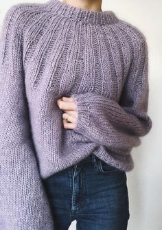 Knit the Sunday Cardigan! This seamless sweater is knitted from the top-down in one piece and uses bulky weight yarn for quick results! Sweater Knitting Patterns, Knit Patterns, Knitting Sweaters, Knit Fashion, Sweater Fashion, Pullover Mode, Quick Knits, Vogue Knitting, Mohair Sweater