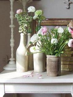 flowers and crocks