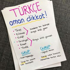 Learn Turkish, High School, Bullet Journal, Study, How To Plan, Education, Learning, Studying, Educational Illustrations