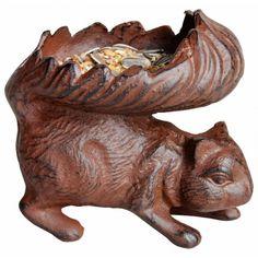 Kado-artikelen, gifts : Gietijzeren voerder-eekhoorn