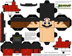 Red Star Mario - cubeecraft / papercraft by MarcoKobashigawa