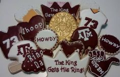 Texas Aggie Ring cookies by Sweet Station, College Station, TX 979-690-7502 10 Days notice requested