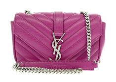 93793913eae5 Saint Laurent Baby Chain Messenger Pink Leather Cross Body Bag 9% off retail