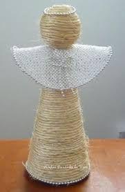 Resultado de imagem para anjos de natal artesanato