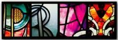"""""""Pray"""" Stained Glass Letter Art Plaque"""