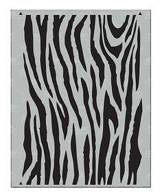 Loving this Zebra Stencil on #zulily! #zulilyfinds