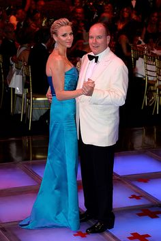 Prince Albert and Princess Charlene danced the night away at Monaco's Red Cross Ball on Friday 3 August 2013