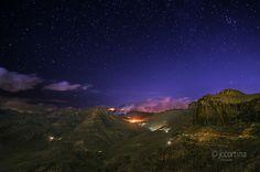Noche estrellada en el valle de Fataga