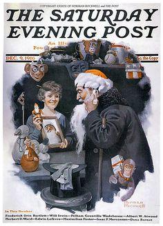 1916 ... Santa Sale- Norman Rockwell