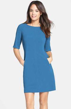 Tahari Seamed A-Line Dress (Regular & Petite)