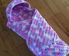 Crochet Hooded Baby Blanket