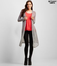 Two-Tone Hooded Duster -