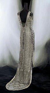 back of 1919 evening dress by Gustav Beer, Paris