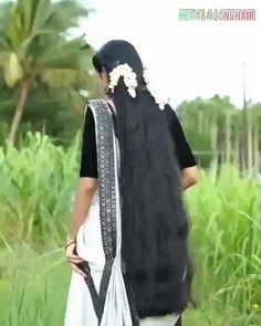 Long Hair Indian Girls, Indian Long Hair Braid, Braids For Long Hair, Black Hair Video, Long Hair Video, Long Black Hair, Long Bob Hairstyles, Indian Hairstyles, Bollywood Heroine