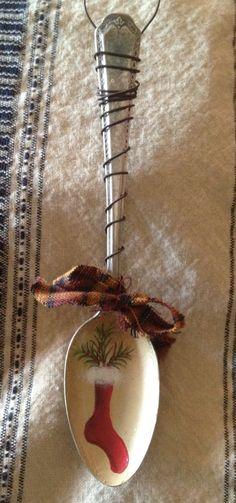 Antique Spoon Stocking Christmas Ornament. $9.99, via Etsy.