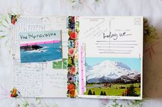 fill in the blank travel journal made of vintage postcards. This would be good for my collection!