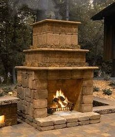 Outdoor kitchen design ideas / bar - Fire Rock Outdoor Fireplaces | Patio Town