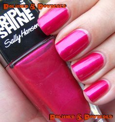 Sally Hansen Triple Shine - Flame On (2 coats) Received in the Violet #VoxBox from #Influenster