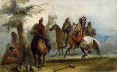 Sioux Setting Out on an Expedition to Capture Wild Horses Artwork by Alfred Jacob Miller kp Jacob Miller, A4 Poster, Poster Prints, Horse Artwork, Vintage Artwork, Vintage Stuff, Bubble Art, Native American Artists, Art Prints For Sale