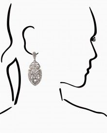 Deco Scroll Earrings- Charming Charlie