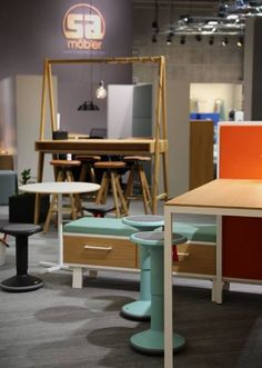 Natural fibres and pastel colours, SA Mobler has got it right when it comes to office furniture. #2017sff #design #interiordesign