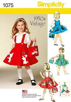 Girls' Vintage 1950's Jumper Pattern Girls' Poodle by blue510