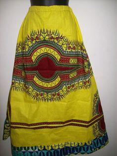 Tall Girls Rock DASHIKI AFRICAN MAXI Skirt / by Illusionsofafrica