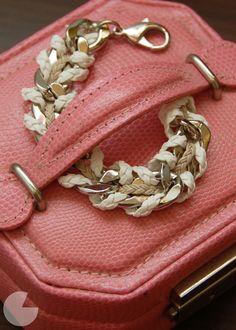 woven chain bracelet- c