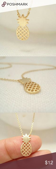 Cute Pineapple necklace $10 on each necklace, choose which color,  bundle deal: pick any additional jewelry on my list for just $5 more, let me know so I can set up a bundle of $15! Jewelry Necklaces