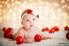 6-month old baby Christmas photo. Adorable!