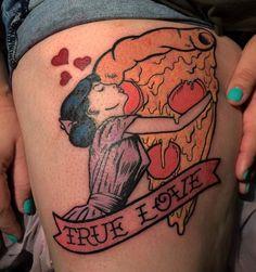 True love pizza tattoo More