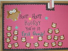 owl classroom theme | Rowdy in First Grade: Some Classroom Pics