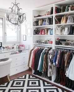 Choice Your Best Closet Storage Ideas Inside Your Room closet inspiration Wardrobe Room, Closet Bedroom, Closet Space, Spare Room Closet, Master Bedroom, Master Closet, Ikea Walk In Wardrobe, Closet Curtains, Shoe Room