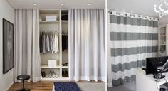 Armarios con cortinas, una idea low cost