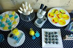 Boy's Mad Science Birthday Party Dessert Table Food Ideas