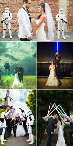 creative star wars themed wedding photography ideas. More:https://www.elegantweddinginvites.com/category/2016-wedding-trends/