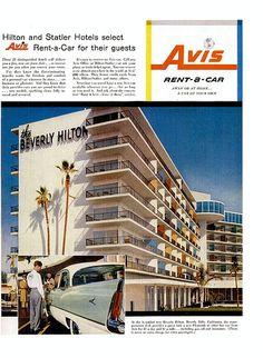 Beverly Hilton & Avis ad - 1956