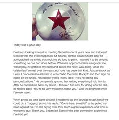 *applause* Good job Sebastian. Good job Fangirl. Politeness and kindness. This is how its done.