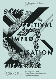 Poster design: Black on colored paper by Colas Weber from Lausanne, Switzerland.